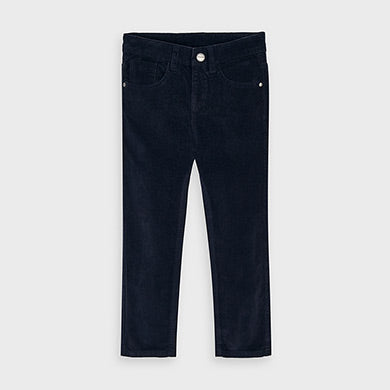 Slim fit basic corduroy trousers for boy