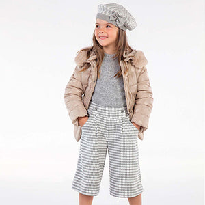 Checked culotte trousers for girl