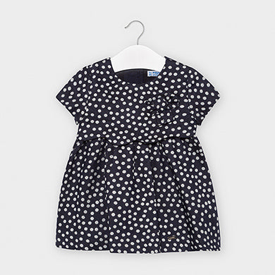 Polka dot dress for baby girl