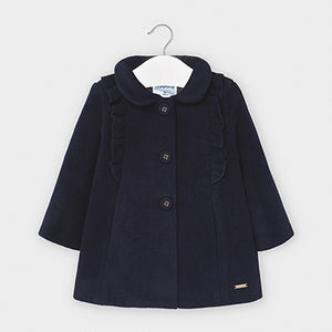 Cloth coat with ruffles for baby girl