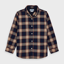 Load image into Gallery viewer, Long sleeved checked shirt for boy