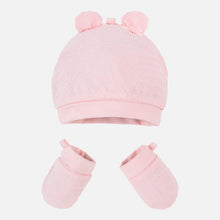 Load image into Gallery viewer, Hat with ears and mittens set