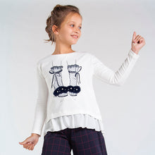 Load image into Gallery viewer, Long sleeved combined shoes t-shirt for girl