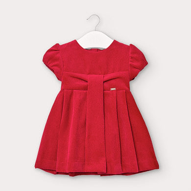 Micro-corduroy dress for baby girl