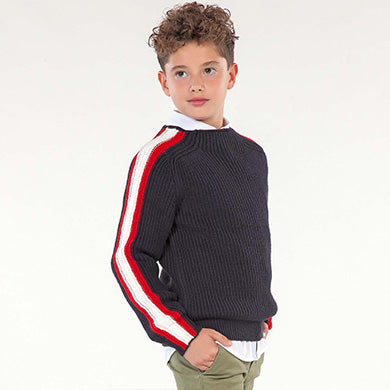 Jumper with side stripes for boy