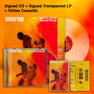 Moral Panic Signed CD + Transparent Signed LP + Yellow Cassette