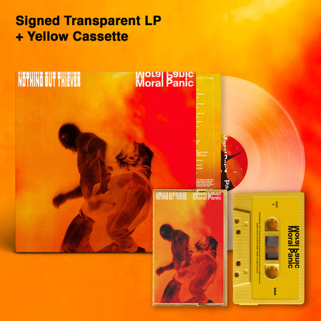 Moral Panic Transparent Signed LP + Yellow Cassette