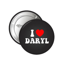 Load image into Gallery viewer, I Heart Daryl Button Badge + Love Songs CD