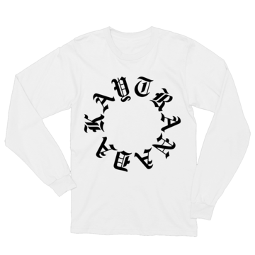 Gothic Circle Long Sleeve Tee  White