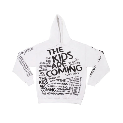 The Kids Are Coming White Hoodie