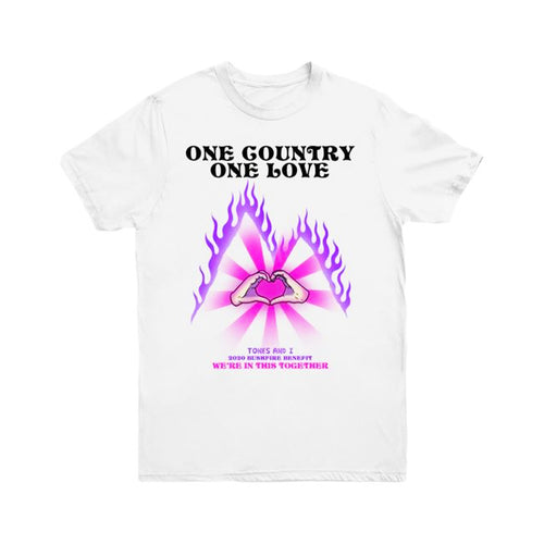 One Country One Love White Tee