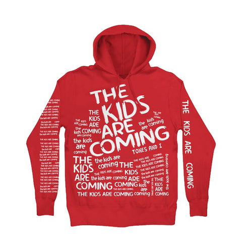 The Kids Are Coming Red Hoodie