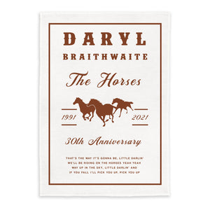 The Horses 30th Anniversary Rust Tea Towel + Digital Download