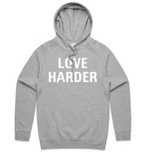 Load image into Gallery viewer, Grey Love Harder Hoodie