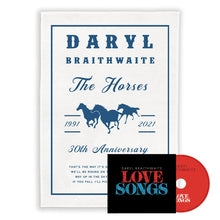 Load image into Gallery viewer, The Horses 30th Anniversary Tea Towel + Love Songs CD