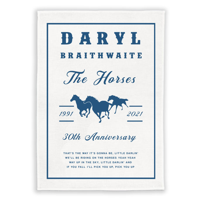 The Horses 30th Anniversary Tea Towel + Love Songs CD