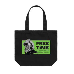 Black Free Time Tote