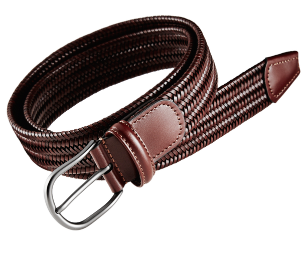 "Ceinture en cuir ""tan"" stretch"