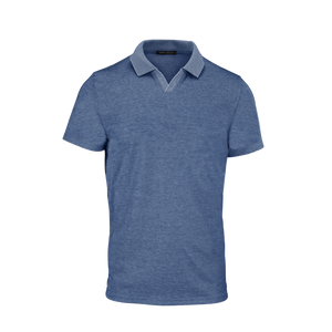 Polo CASEY SS JOHNNY COLLAR bleu