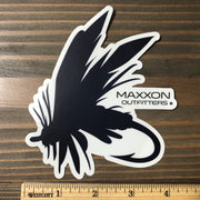 MAXXON BLUE & WHITE 'FLY' STICKER