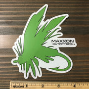 MAXXON GREEN & WHITE 'FLY' STICKER