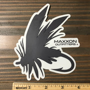 MAXXON GRAY & WHITE 'FLY' STICKER