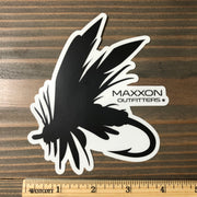 MAXXON BLACK & WHITE 'FLY' STICKER