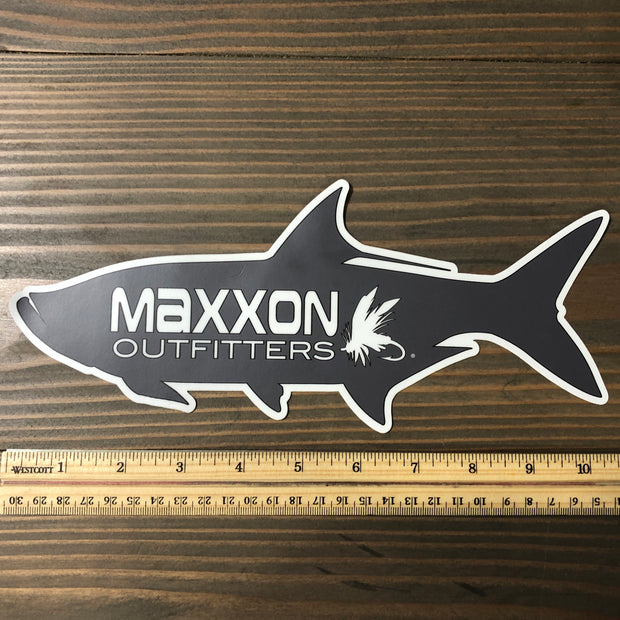 MAXXON GRAY 'TARPON' STICKER