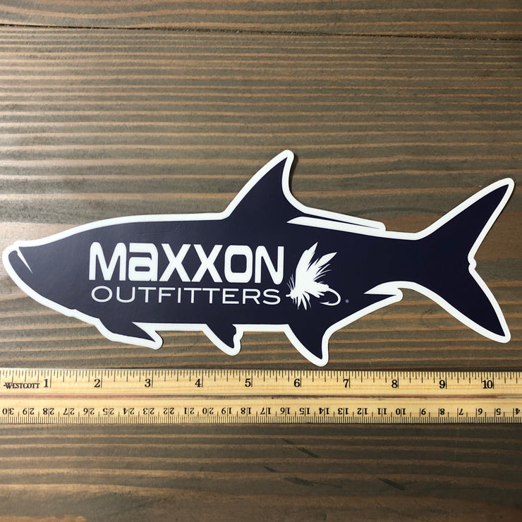 MAXXON BLUE 'TARPON' STICKER