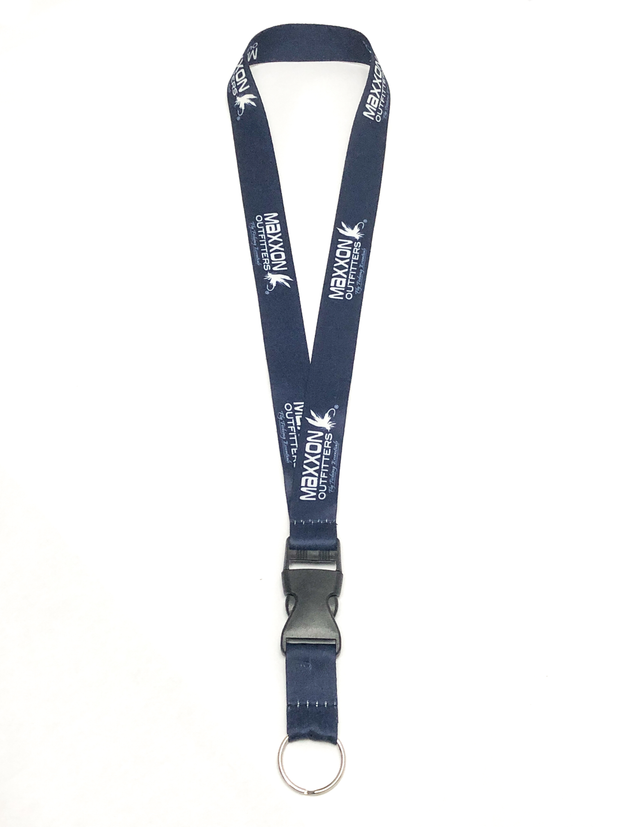 "Maxxon Outfitters 21"" Blue Polyester Lanyard"