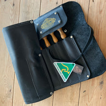 Load image into Gallery viewer, NEW! AUSTRALIAN made genuine leather CHISEL ROLL for 9 chisels