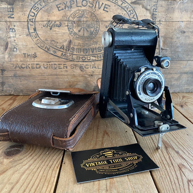 Vintage KODAK England folding CAMERA display item T7261