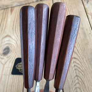 Vintage set of 4x H. & C. TAYLOR GOUGES Carving chisels T10040