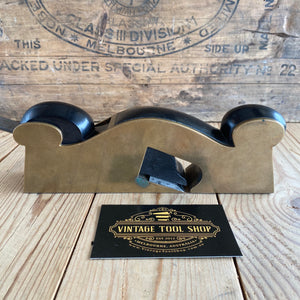 Antique EBONY & BRONZE infill shoulder PLANE T648