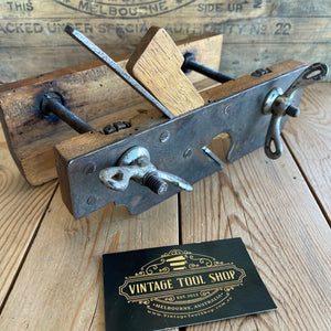 Antique Steampunk FRENCH Screw Stem PLOUGH PLANE Y1905