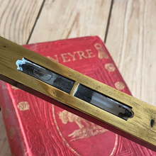 Load image into Gallery viewer, Antique fancy EBONY & Brass LEVEL T7073