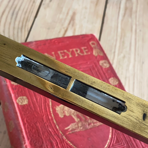 Antique fancy EBONY & Brass LEVEL T7073
