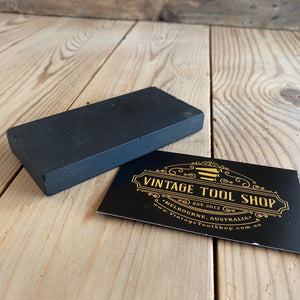 Antique BLACK HARD ARKANSAS natural sharpening stone vintage barber razor hone knife plane blade knives chisel axe sharp
