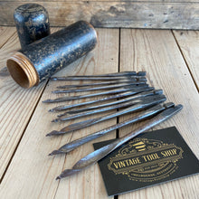 Load image into Gallery viewer, Antique set of 11 GIMLET BITS drill bits IOB T1035