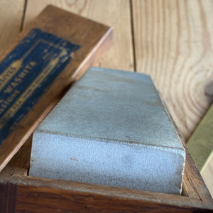 Antique NORTON LILY WHITE WASHITA ARKANSAS  natural sharpening stone A3