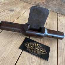 Load image into Gallery viewer, Antique HANDLE MAKERS Mahogany wooden spokeshave SCRAPER T495