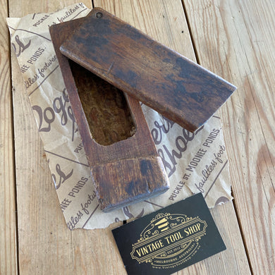 Antique FRENCH wooden GREASE BOX Y1646