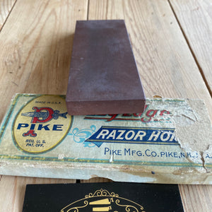 Antique PIKE EZY Edge Barber hone sharpening stone A37
