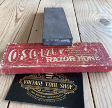 Load image into Gallery viewer, Vintage O-SO-EZE Razor barber HONE IOB A70