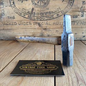 Vintage EARLY Warrington cross peen HAMMER T4850