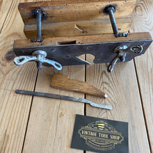 Load image into Gallery viewer, Antique Steampunk FRENCH Screw Stem PLOUGH PLANE Y1905