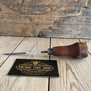 Vintage Long Tip Marking AWL with wooden handle T6959
