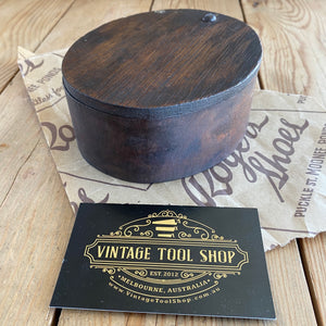 Antique London Plane Wooden GREASE BOX T4203