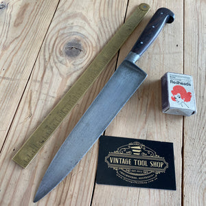 Vintage French Carbon Steel CHEFS KNIFE T6757