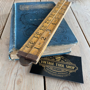 Vintage SYBREN Holland boxwood RULER T5751
